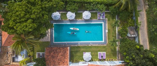 Surf Retreat Weligama drone pool
