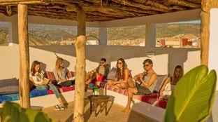 morocco pure surf camp chill rooftop