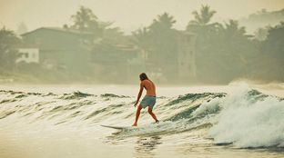 Fun surf in Sri Lanka