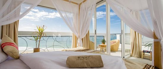 Sea View Surf Camp luxury bed