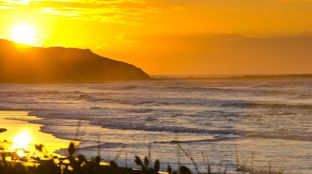 dawn surf first in Costa Rica