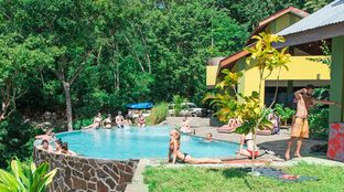 Surf Camp Nicaragua view infinity pool camp chill