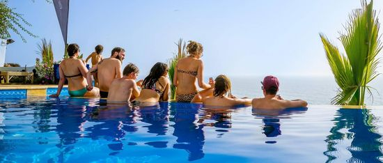 Sea View Surf Camp morocco friends pool