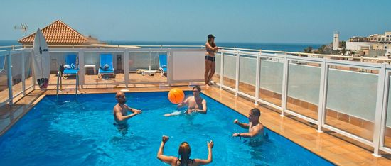 Family Surf Camp Fuerteventura rooftop pool