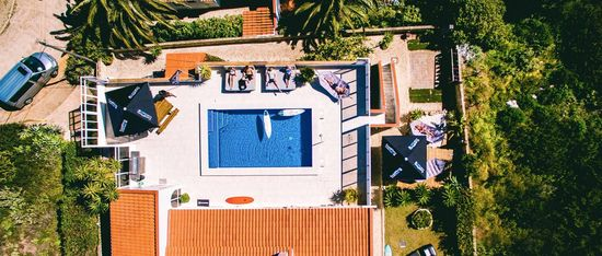Portugal Surf Lodge from air