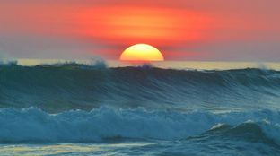 Costa Rica surf sunset