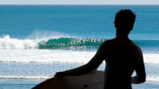 barrel Bali silhouette sunshine surf