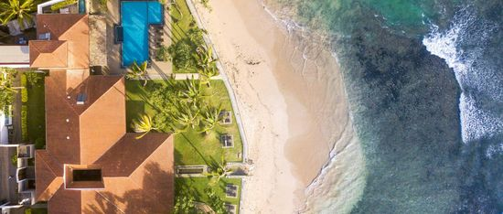 Drone photo Ahanagama Sri Lanka beach and resort