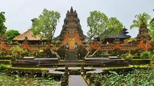 Bali temple culture nature water lilly
