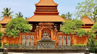Bali Temple culture forrest sunshine