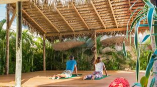 Caribbean Surf camp Yoga Nature