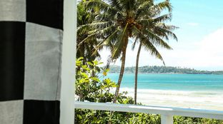 View from room over Weligama Sri Lanka