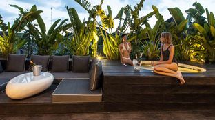 Bali deluxe surf camp spa pool chill