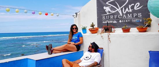 Surf Camp Gran Canary Rooftop chill