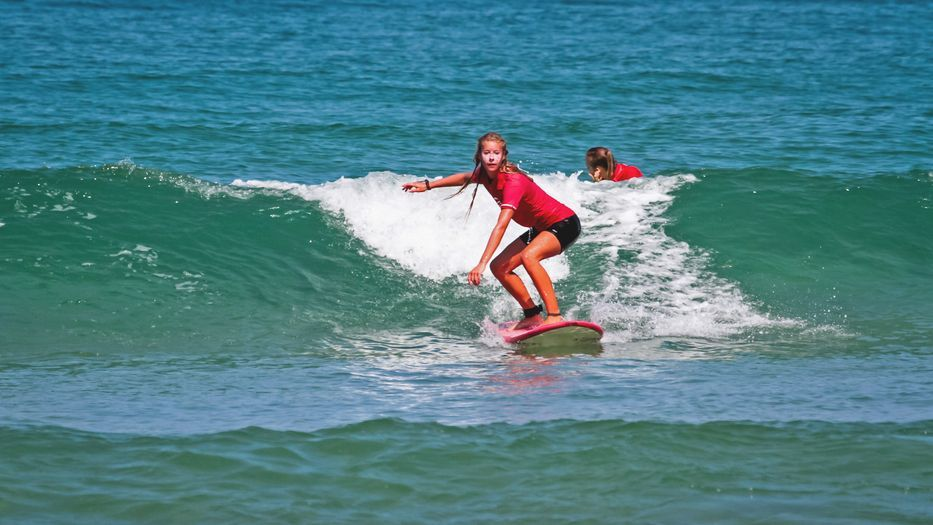 Take a look inside the the local surf school