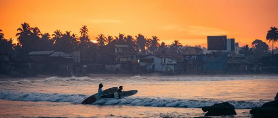 sunrise surf session