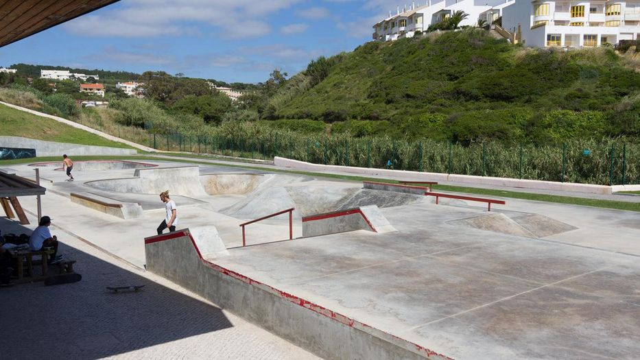 Skating. The skatepark at the Quiksilver Boardriders Club in Ericeira b93e54c787a