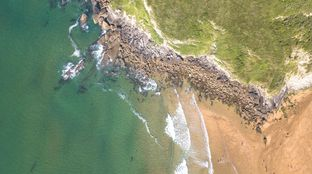 Drone picture surf camp France